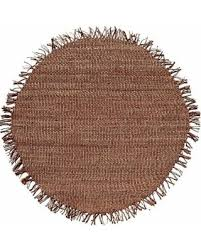 T Handwoven Natural Jute Rug 8u0027 Round Brown
