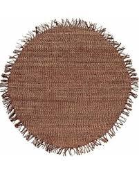 T Handwoven Natural Jute Rug 8u0027 Round Brown