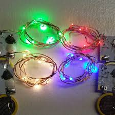 20 inch copper wire string light 10 warm white fairy lights 20 inch wire 10 leds available in wam white red green or blue
