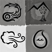 Znalezione obrazy dla zapytania four elements black and white