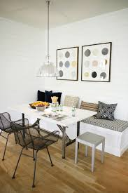 breakfast nook furniture ideas. Small Dining Room Decoration With Simple Breakfast Nook Furniture And Contemporary Pendant Light Above Square Table Design Also Using Wooden Floor Ideas