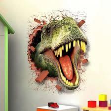 3d dinosaur wall sticker t rex head