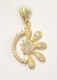 ejewels dp 2103 22k gold pendant set with swarovski jewellery women clothing footwear