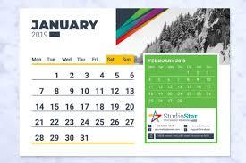 Callendar Planner 2019 Desk Table Calendar Planner