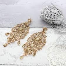 antique stone chandelier earrings