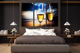 3 piece huge canvas print bedroom wall art champagne glasses group canvas blue on wall art prints for bedroom with 3 piece multi panel art blue canvas art prints champagne glasses