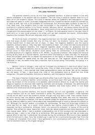 Classification Example Essay
