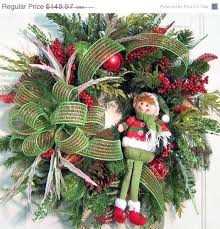 outdoor wreaths elf door wreath holiday by light up uk