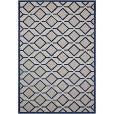 nourison aloha navy indoor outdoor area rug common 8 x 10 actual