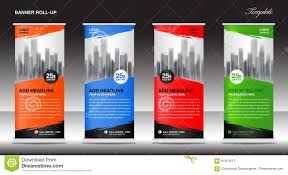 Advertising Flyers Samples Roll Up Banner Stand Template Advertisement Flyer Design