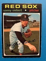 1971 Topps #710 Sonny Siebert Boston Red Sox High Number | eBay