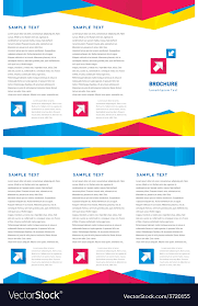 Creative Design Brochure Tri Fold Layout Design Vector Image
