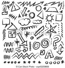 Doodle Design Elements Vector Shapes