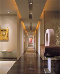 recessed lighting in hallway. Hallway Lighting Fixture With Recessed Lights And Hanging Lamps Also Orange Led Strip In I