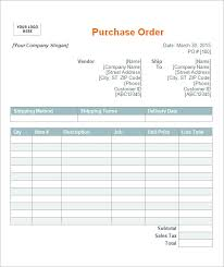 Blank Purchase Order Form Excel Archives The Best Snowboards
