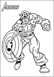 Small Picture Avengers Captain America Coloring Pages Color Zini