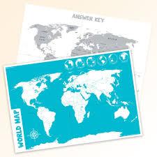 World Map Chart Top Notch Teacher Products Inc