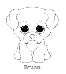 Brutus Coloring Page Diy Arts And Crafts Beanie Boo Birthdays