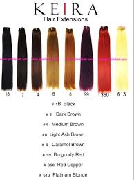 Keira Clip On Hair Extensions Color Chart Shop Now Www