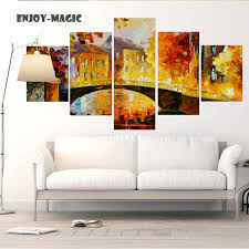 home decor leonid afremov peinture wall art toile literie color