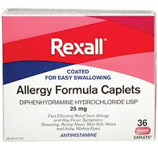 Rexall Allergy Relief 25mg Caplets 36's