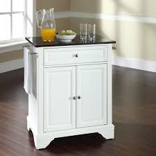 crosley furniture alexandria solid granite kitchen photo on white kitchen cart with black granite