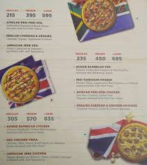 Pizza Mania Size Chart Dominos Pizza Menu Menu For Dominos Pizza Sector 18