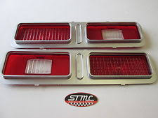 nova parts 1973 1974 73 74 nova new pair of taillight lenses gm authorized restoration part