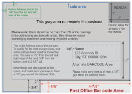 Postcard How To Address Mailing Design Guidelines Smartpress Support