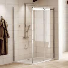 aquafloe elite ll 8mm 1400 x 900 frameless sliding door shower enclosure