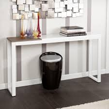 Many Various and Creative Design of Narrow Tables for Hallway : Modern  White Narrow Console Tables