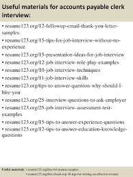top  accounts payable clerk resume samples       useful materials for accounts payable