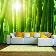 Fotobehang Zon En Bamboe Karo Art Vof