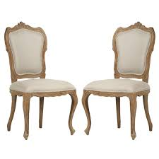 add french luxury to your dining room set with these chairs or use them as accent