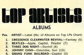 Rewinding The Charts 44 Years Ago Creedence Clearwater