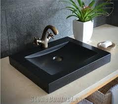 undermount bathroom sink. Bathroom Sink Granite Black China Square Stone Basin Kitchen Sinks Wash Hand Made . Undermount