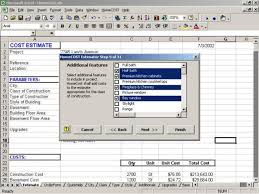 Home Construction Estimator Excel Homecost Estimator For Excel Download