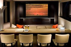 Theater styled media room with Comfy Home Theater Seating Ideas to Pamper  Yourself
