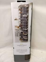 26 pocket over door shoe organizer rack hanging closet storage unit