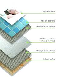 tile backer board options floor adhesive bed thickness cement based and grout if