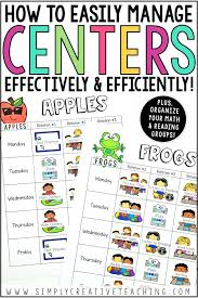 Reading Center Rotation Chart Organizing Math Reading Rotations For Small Group
