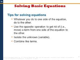 solving basic equations