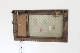 Wall Jewelry Organizer Jewelry Organizer Wooden Wall Hanging Jewelry Holder And Display