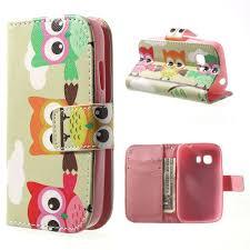 Samsung Galaxy Young 2 Wallet Case - Owls 2
