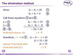 the elimination method