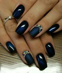 Navy Blue Nail Designs For Prom Nails For Prom In 2020 Accent Nail Designs Nail Designs