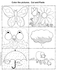 Printable kid activity worksheets - Child Cut and paste 2