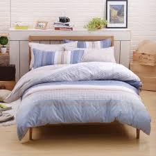 100 cotton super king size blue striped quilt sets