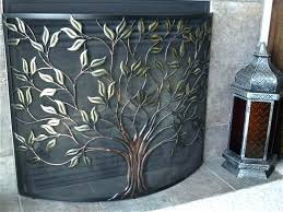 beveled glass fireplace screen clear beveled glass fireplace screen s