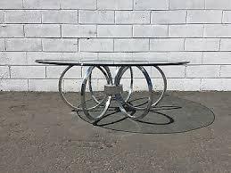 mid century modernism chrome coffee table